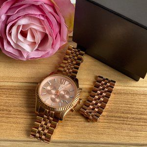 Michael Kors rose gold oversized watch